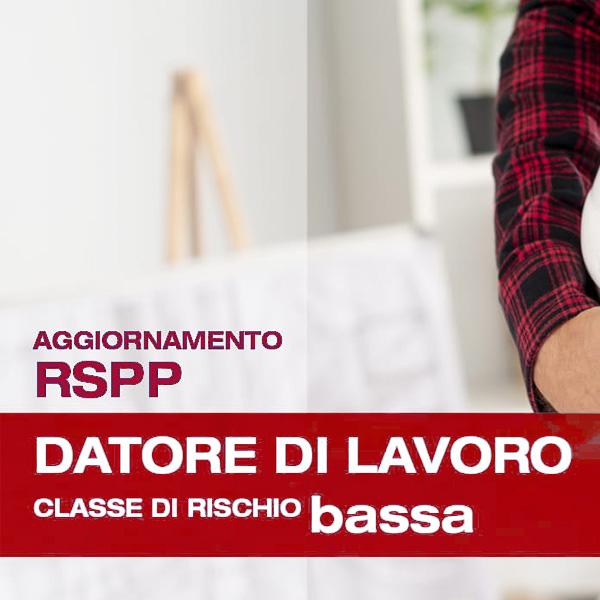Corso di Formazione per RSPP Datore di Lavoro Rischio Basso