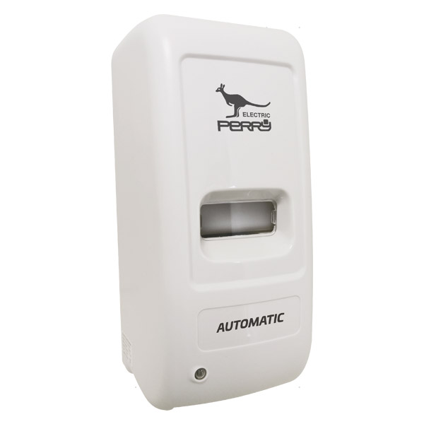 Dispenser automatico per gel igienizzante mani da un litro. Funziona grazie a un sensore infrarossi alimentato a batterie. Assicure la massima igiene ed è ideale per locali pubblici, uffici, studi medici, hotel e ristoranti.