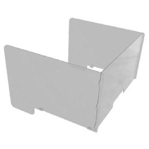 Divisore per postazione da lavoro con laterali da 50 cm