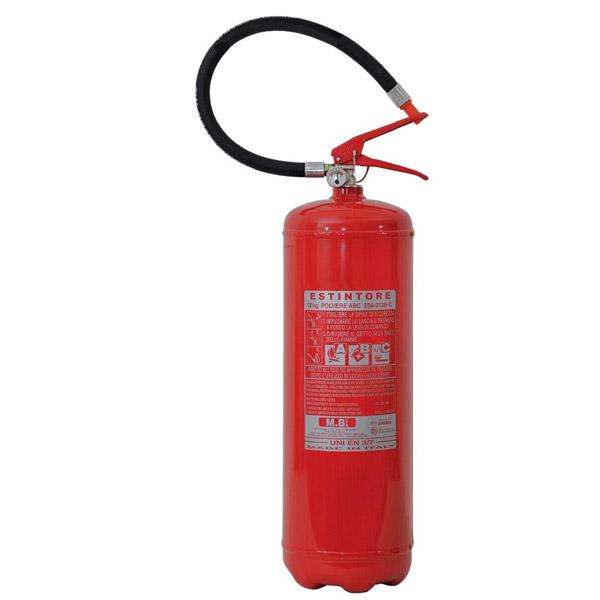 Estintore a polvere 12 kg è l'ultimo estintore per ordine di kg tra i portatili. Garantisce un rapido impiego e una lunga durata per la scarica completa (oltre i 29 secondi). La polvere ABC è usata per fuochi di classe A (materiali solidi) fuochi di classe B (liquidi infiammabili) e classe C (gas infiammabili).
