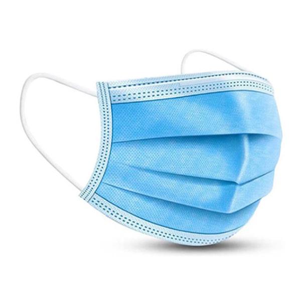 Mascherina chirurgica monouso in tessuto non tessuto con tre strati (protettivo, filtrante, idrorepellente) con barra conformabile al naso, dotata di due elastici, conforme CE. Soddisfa i requisiti della Direttiva sui dispositivi medici 93/42 CEE.