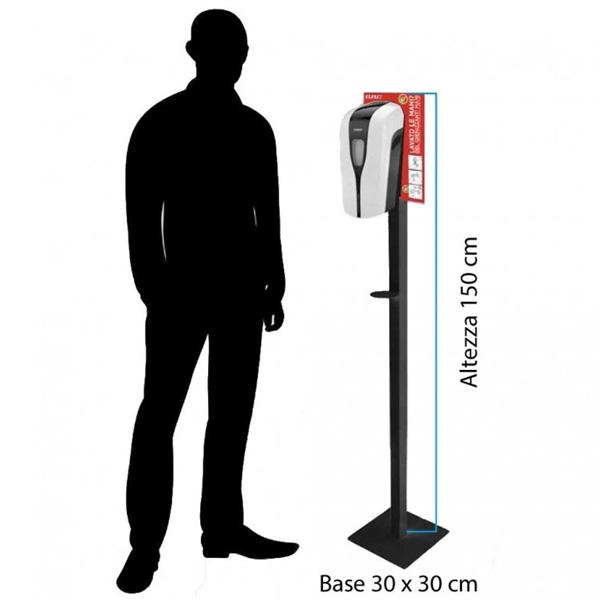 Colonna per dispenser automatico per liquido o gel igienizzante mani